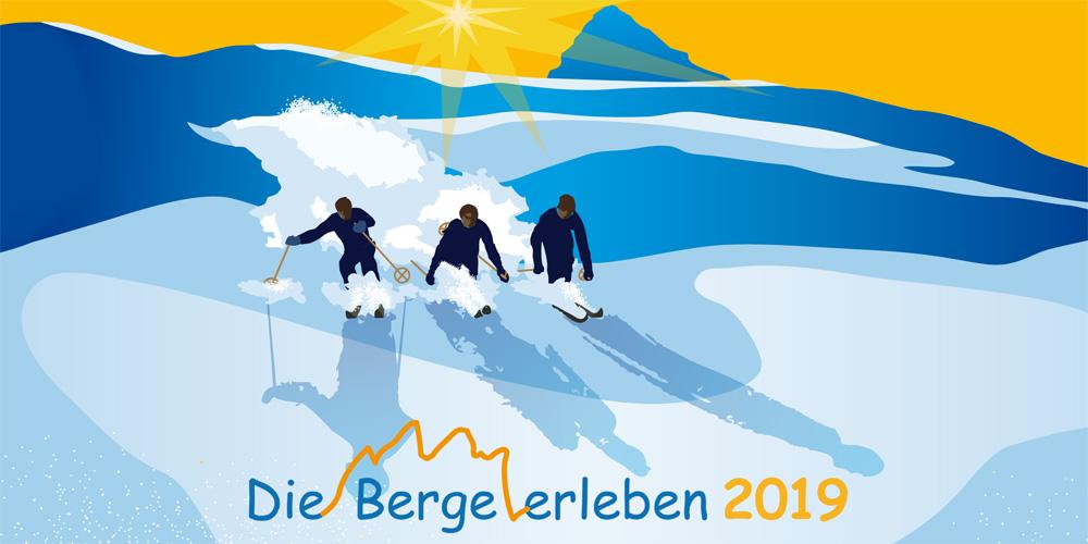 Skifahrer im Retro-Style von Greenlight Werbung