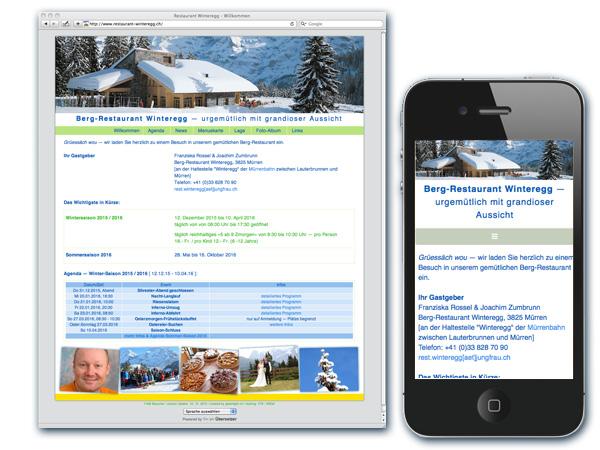 neue Homepage www.restaurant-winteregg.ch